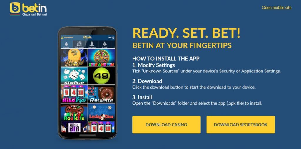 Betin mobile overview